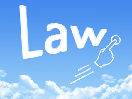 message cloud: Law message cloud shape Stock Photo
