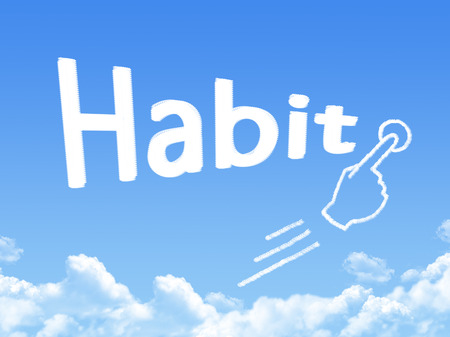 habit: habit message cloud shape