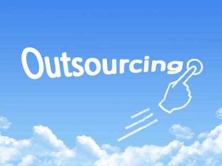 outsourcing message cloud shape