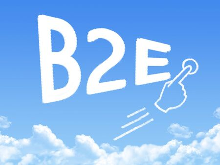 b2e: business to employee message cloud shape