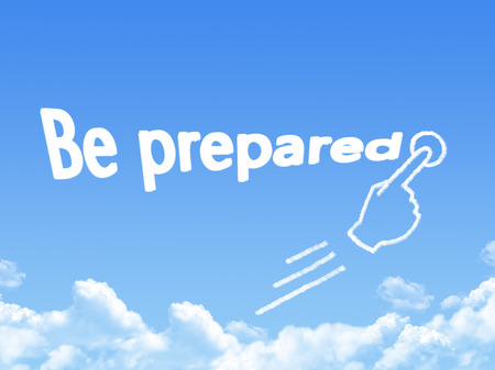 message cloud: be prepared message cloud shape