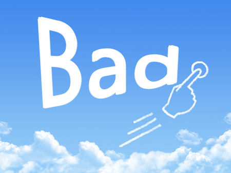 message cloud: Bad message cloud shape Stock Photo