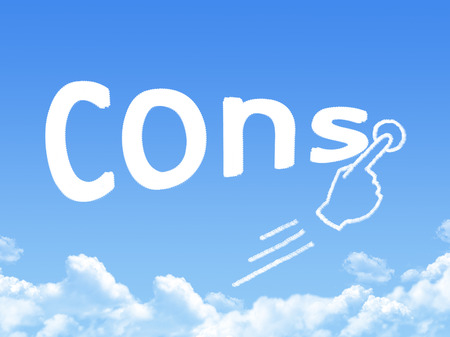 cons: Cons message cloud shape