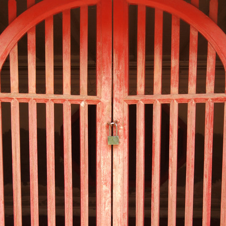 red door: Red door is locked