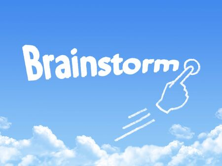 message cloud: brainstorm message cloud shape