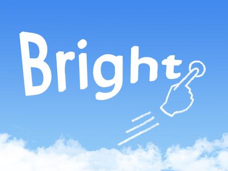 sanguine: Bright message cloud shape Stock Photo
