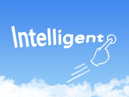intelligent: intelligent message cloud shape