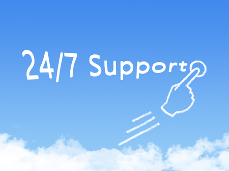 24x7: 247 support Stock Photo