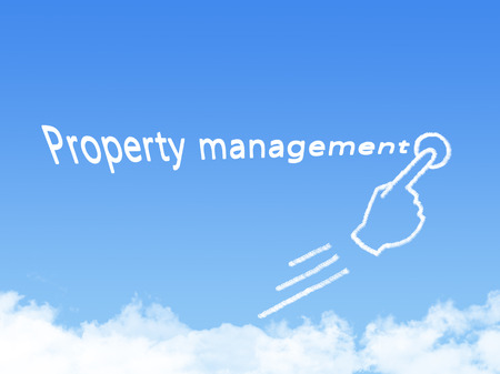 message cloud: property management message cloud shape Stock Photo