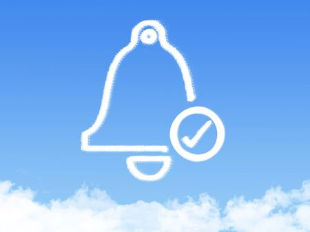 ring tones: Bell icon symbol cloud shape Stock Photo
