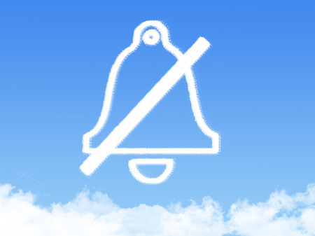 bell ringer: Bell icon symbol cloud shape Stock Photo