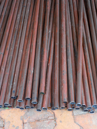 steel pipes: Stack of steel pipes