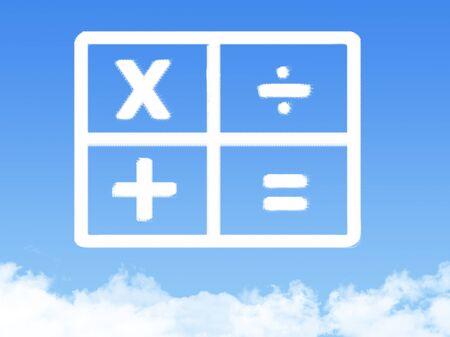 calculator cloud shape photo