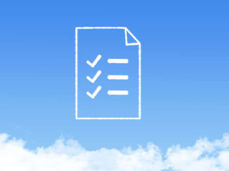smoke stack: Notepad paper document cloud shape