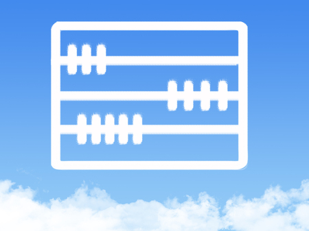 an abacus: abacus cloud shape