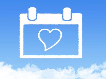 love cloud: Love calendar cloud shape