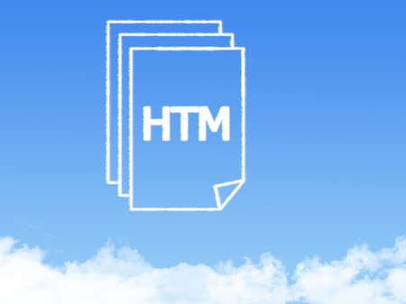 htm: Notepad paper document cloud shape