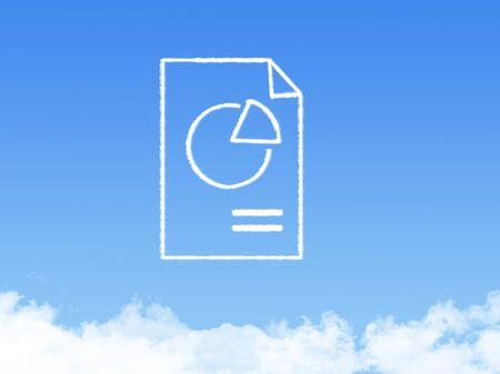 folio: Notepad paper document cloud shape