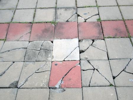 cracked floor texture Standard-Bild