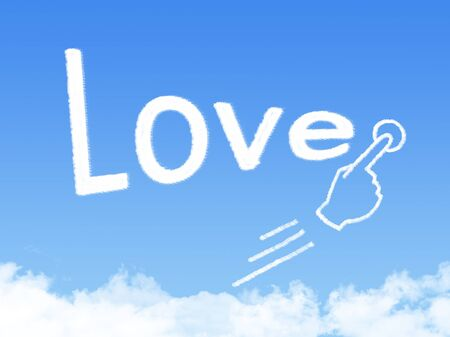 message cloud: love message cloud shape
