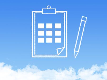 bible study: Notepad paper document cloud shape