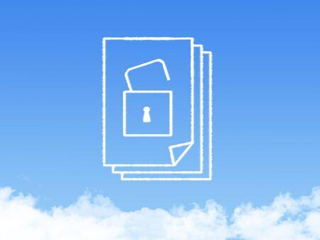 office cubicle: Notepad paper document cloud shape