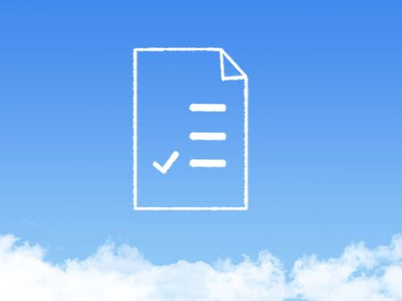 air hole: Notepad paper document cloud shape