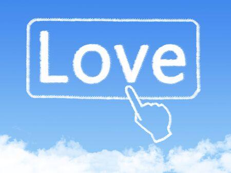 love cloud: love message cloud shape