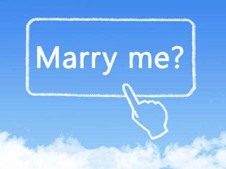 marry me message cloud shape Stock Photo