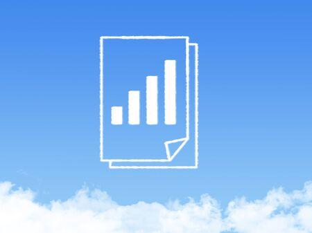 Notepad paper document cloud shape