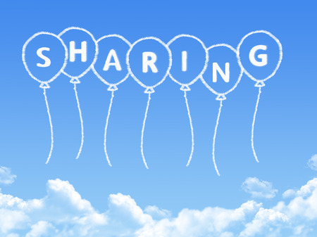freedom of thought: Cloud shaped as sharing Message