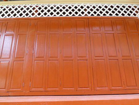 Texture of the wooden door