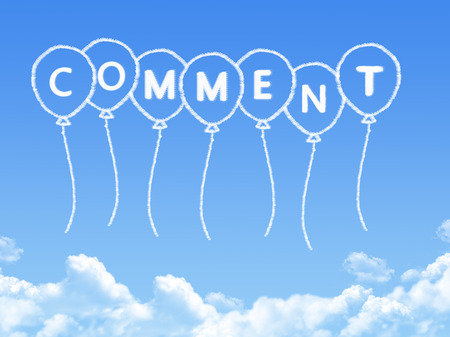 Cloud shaped as comment Message Stock Photo
