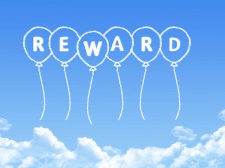 remuneración: Nube en forma de recompensa Mensaje