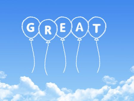 commendation: Cloud shaped as great Message Stock Photo