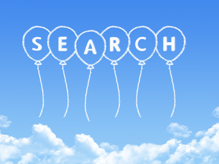 Cloud shaped as search Message photo