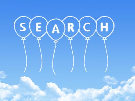 keys to heaven: Cloud shaped as search Message