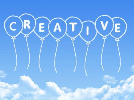 textcloud: Cloud shaped as creative Message Stock Photo