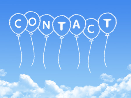 Cloud shaped as contact Message