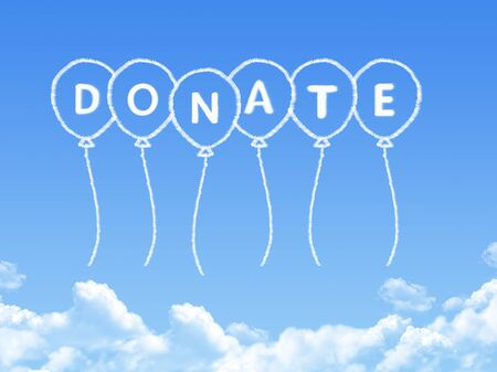 gift of hope: Cloud shaped as donate Message