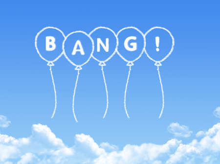 bang: Cloud shaped as bang Message