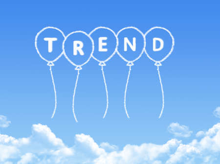 craze: Cloud shaped as trend Message Stock Photo