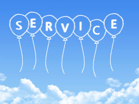 Cloud shaped as service Message Stock Photo