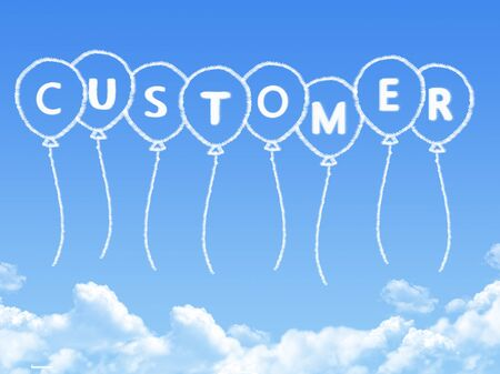 Cloud shaped as customer Message
