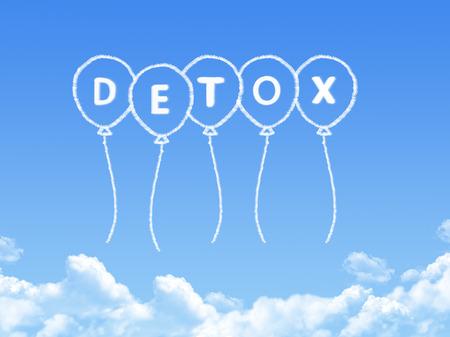 Cloud shaped as detox Message