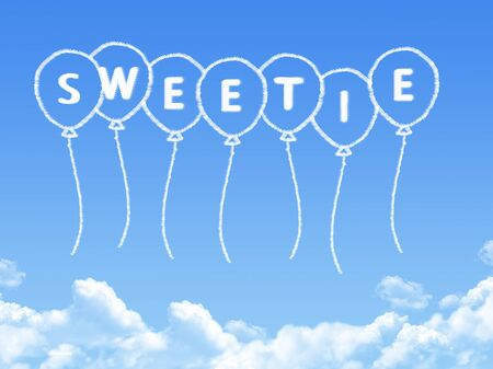 clouds blue sky: Cloud shaped as sweetie Message