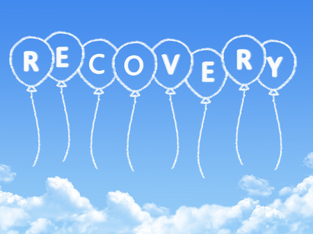 recovery: Cloud shaped as recovery Message