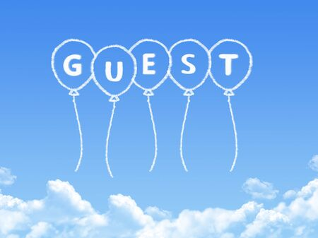 acceptable: Cloud shaped as guest Message Stock Photo