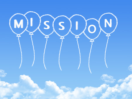 Cloud shaped as mission Message