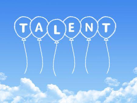 talent: Cloud shaped as talent Message